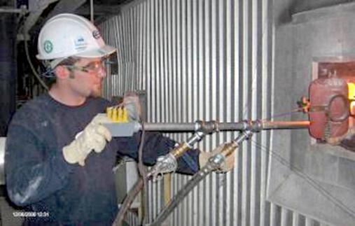 Boiler Slag Mitigation check with HTP Probe